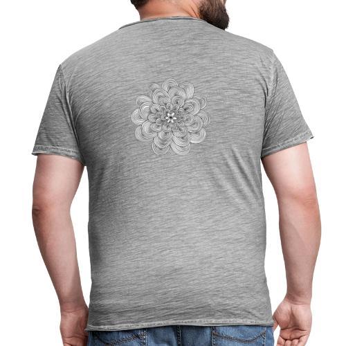 hypnotic flower - Maglietta vintage da uomo