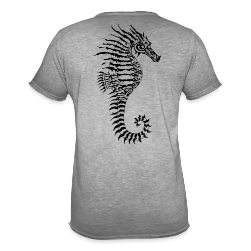 Alien Seahorse Invasion - Men's Vintage T-Shirt