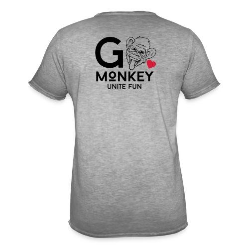 GO MONKEY - Unite fun - Vintage-T-skjorte for menn