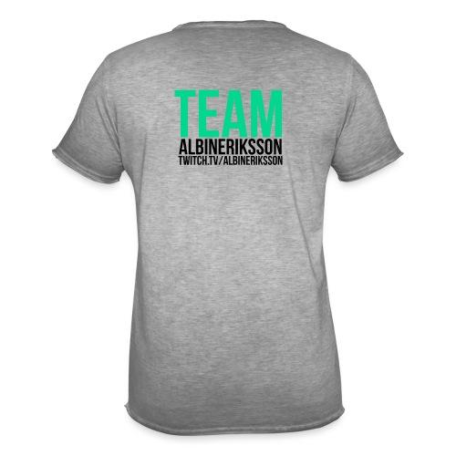Team albinerikss0n Svart - Vintage-T-shirt herr