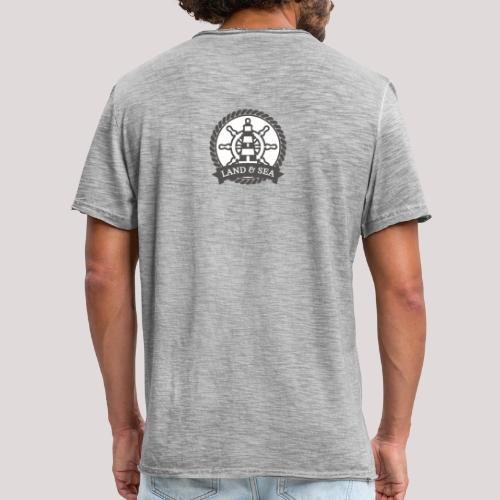 Anker Land Sea - Männer Vintage T-Shirt