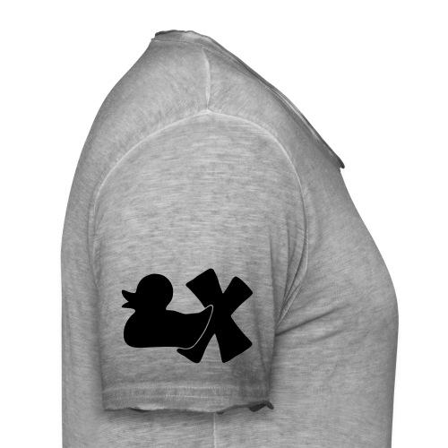 Ente mit X v3 3 klein - Männer Vintage T-Shirt