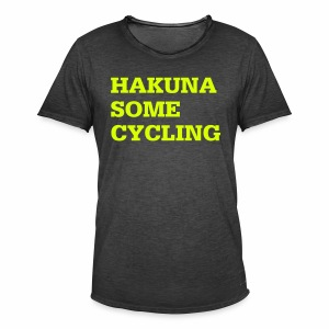 Hakuna some cycling - Männer Vintage T-Shirt