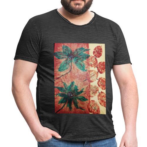 Herbstblumen - Männer Vintage T-Shirt