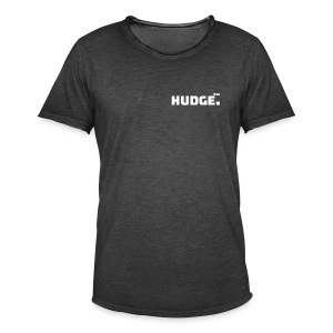 HUDGE PRO WHITE - Männer Vintage T-Shirt