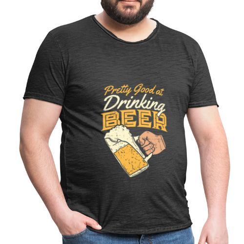 drinking Beer - Männer Vintage T-Shirt