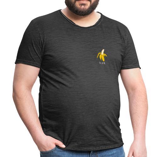 Y.A.M. LOGO Zwart - Mannen Vintage T-shirt