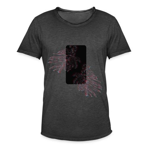 Illusion tropicale noire - T-shirt vintage Homme