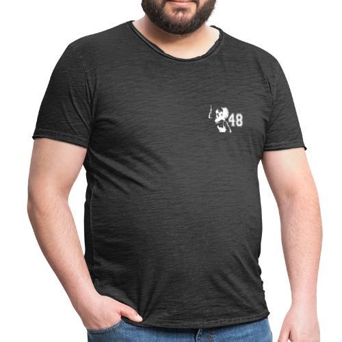 48 shirt weiss - Männer Vintage T-Shirt