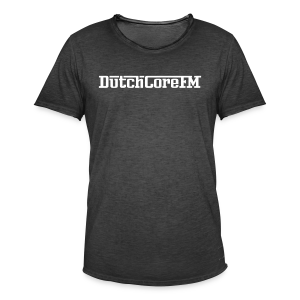DutchCoreFM Logo White - Men's Vintage T-Shirt
