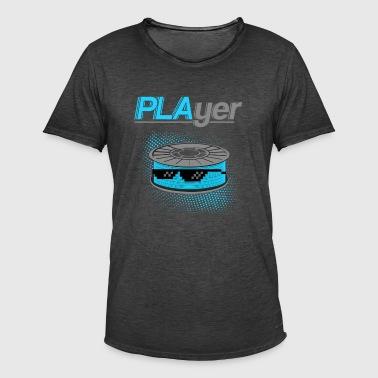 3D Drucker T-Shirt - Männer Vintage T-Shirt