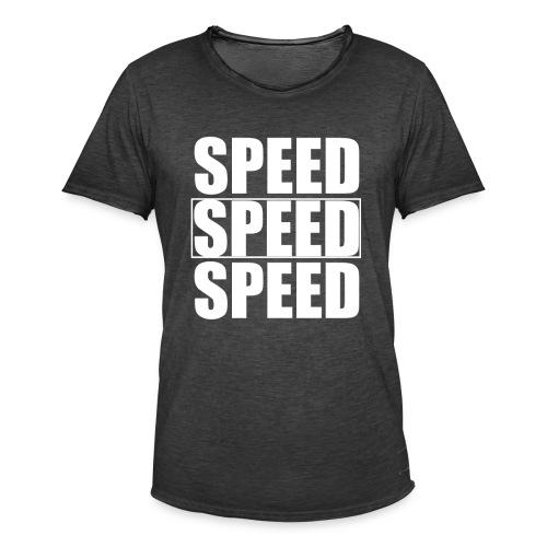 SPEED Mens MOTORSPORT Hoodie and Tee - Men's Vintage T-Shirt