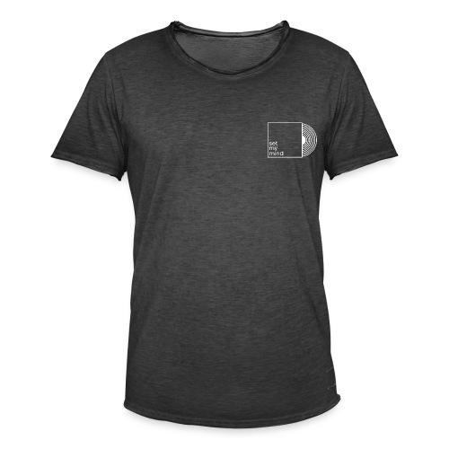 Set My Mind Logo - Männer Vintage T-Shirt