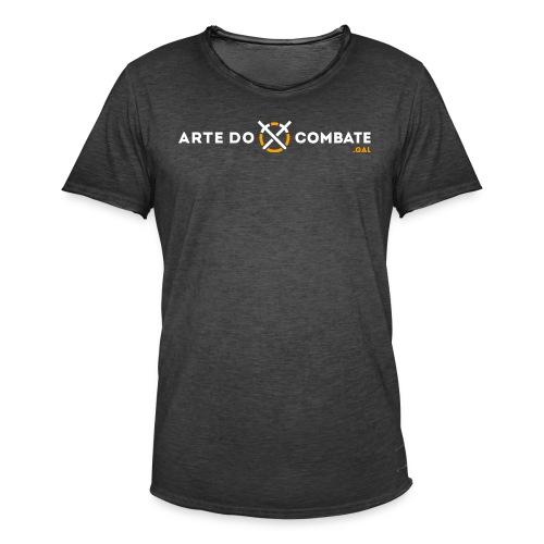 Logótipo «Arte do Combate» horizontal sobre preto - Camiseta vintage hombre