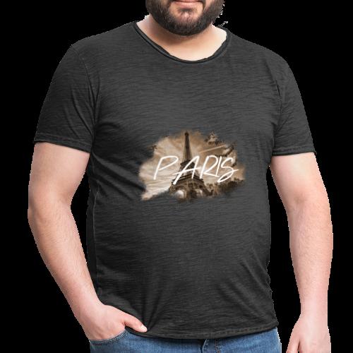 PARIS   MKEY - Männer Vintage T-Shirt