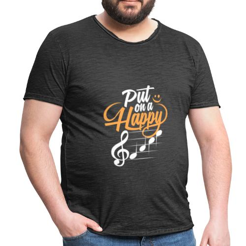 happy face - Männer Vintage T-Shirt