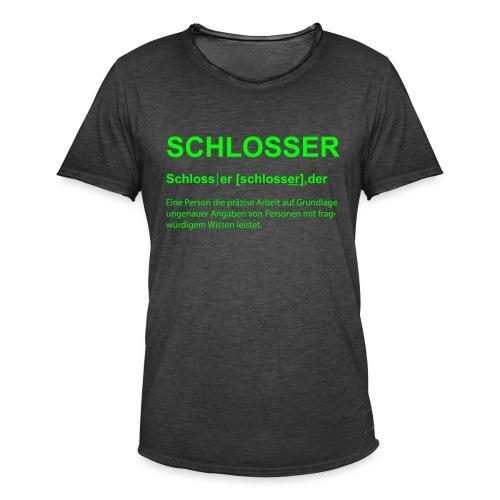 Schlosser Bezeichnung - Männer Vintage T-Shirt
