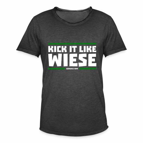 Kick it like Wiese weiss - Männer Vintage T-Shirt