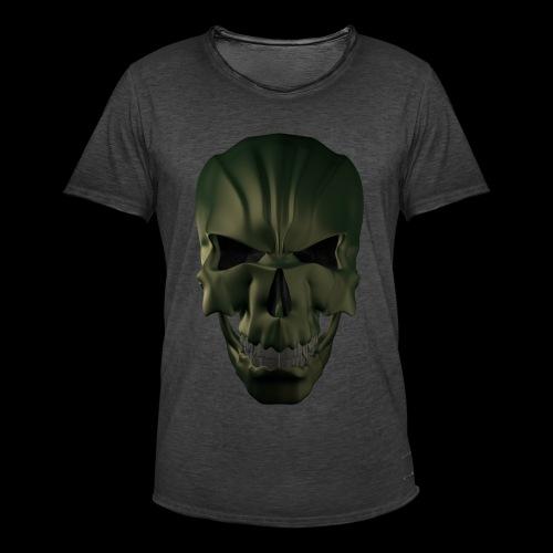 Grim Skull 3D - Koszulka męska vintage