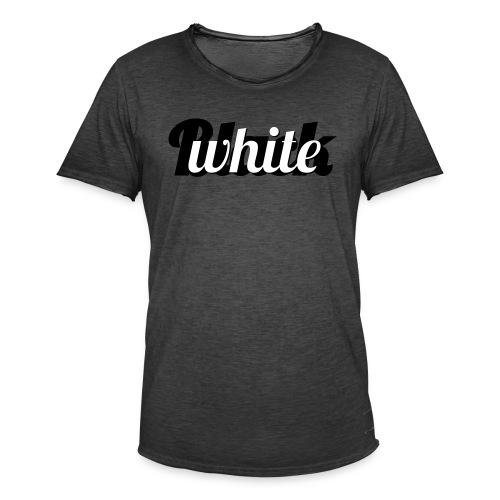 Zwart-wit typografie - Mannen Vintage T-shirt