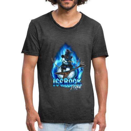 Snowman Evil - Männer Vintage T-Shirt