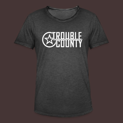 Trouble County Logo - Men's Vintage T-Shirt