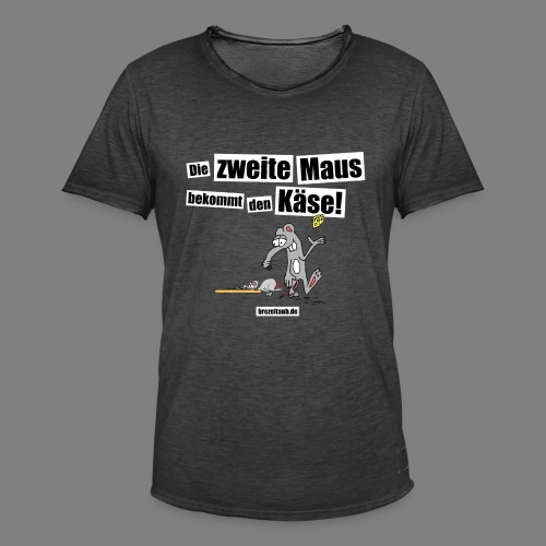 Die zweite Maus - Männer Vintage T-Shirt