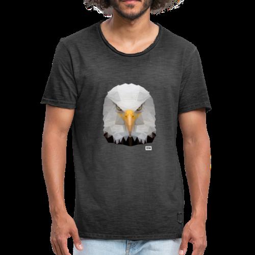 Eagle of Triangles white logo - Men's Vintage T-Shirt