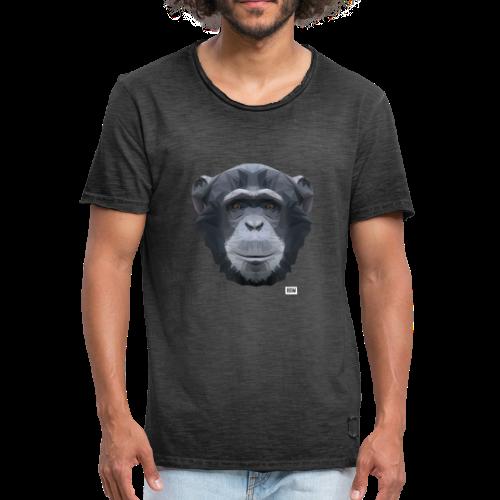 Chimpansee of Triangles white logo - Men's Vintage T-Shirt