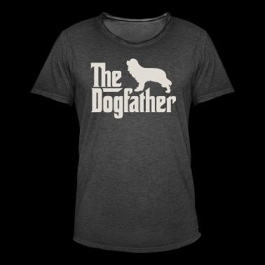 Den Dogfather - Cavalier King Charles Spaniel - Vintage-T-skjorte for menn