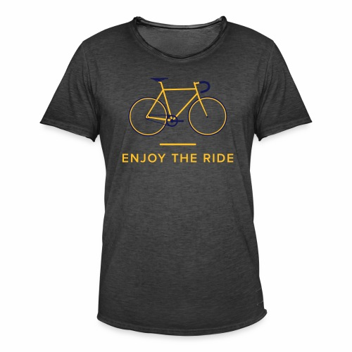 Enjoy The Ride Retro Cycling T-Shirt - Men's Vintage T-Shirt