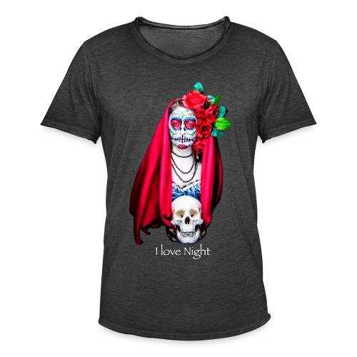 Catrina I love night - Camiseta vintage hombre