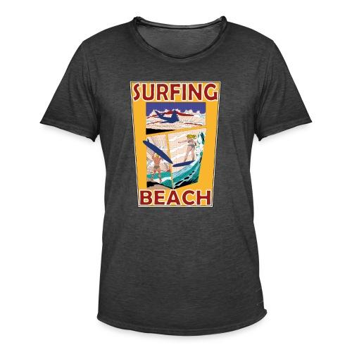 Surfing beach comic Urlaub t-shirt - Männer Vintage T-Shirt
