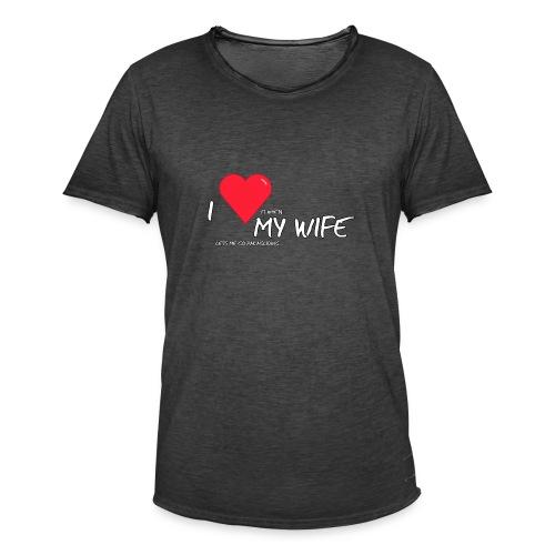 Love my wife heart - Mannen Vintage T-shirt