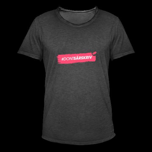 # DONTSÄRSKRIV - Men's Vintage T-Shirt