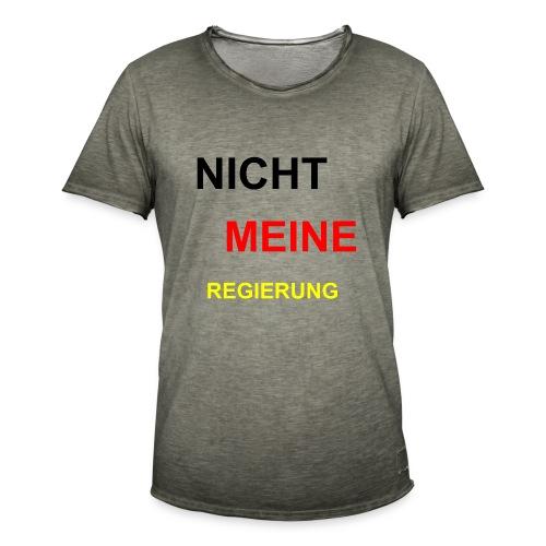 NICHT MEINE REGIERUNG - Männer Vintage T-Shirt