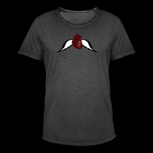 Fly Heart - Männer Vintage T-Shirt