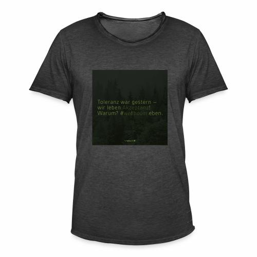 #weilbaum-T-Shirt Akzeptanz - Männer Vintage T-Shirt