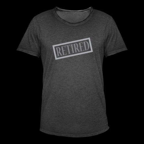 Retired - Camiseta vintage hombre