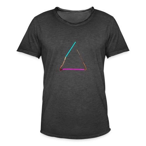 3eck - Dreieck - triangle - Männer Vintage T-Shirt