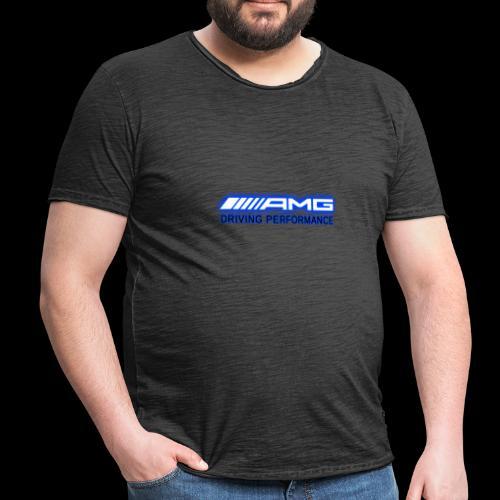 AMG Blue-Edition NEON - Männer Vintage T-Shirt