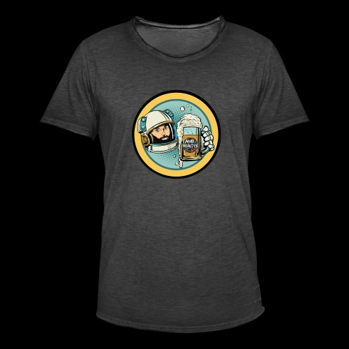 Astronaut With Beer - Men's Vintage T-Shirt