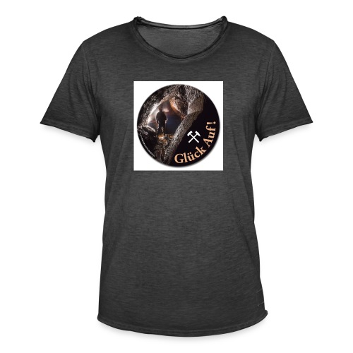 runder Bergbau Aufkleber Untertage - Männer Vintage T-Shirt