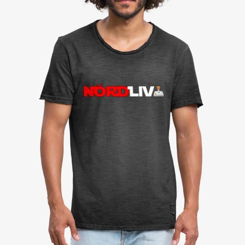 Nördliv + Logo - Vintage-T-shirt herr