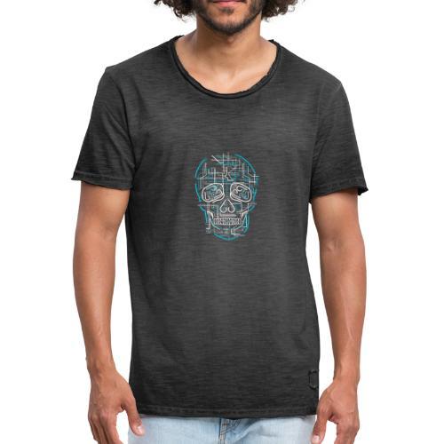 electric skull tshirt ✅ - Männer Vintage T-Shirt