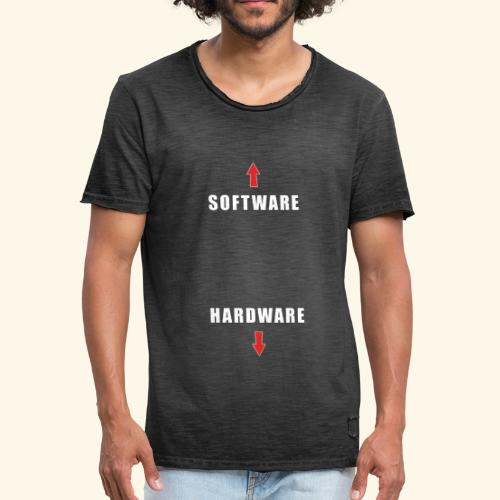 software hardware V2 - Camiseta vintage hombre