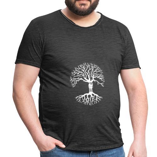 tree of life arbre de vie couple amoureux blanc - T-shirt vintage Homme