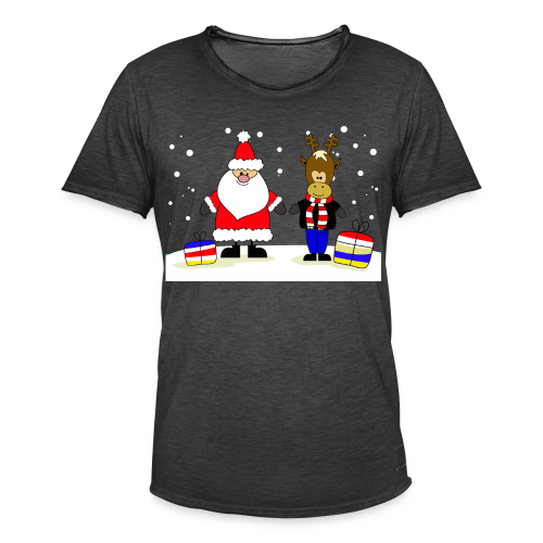 Christmas Collection - Vintage-T-skjorte for menn