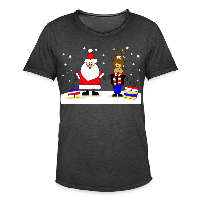 Christmas Collection - Vintage-T-skjorte for menn