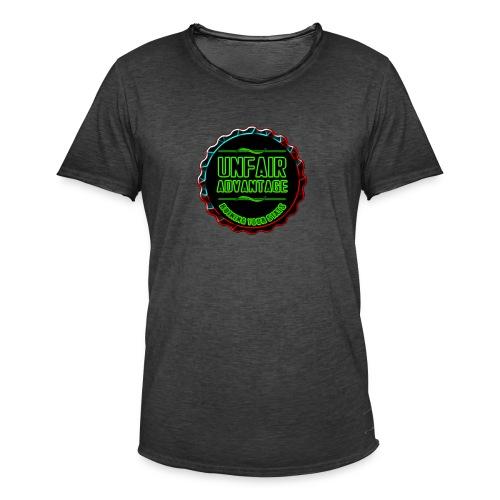UFAV Back and Green Logo - Men's Vintage T-Shirt
